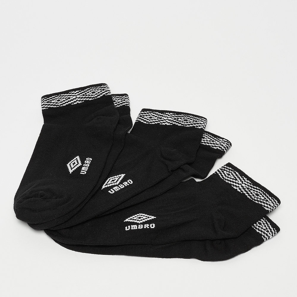 Umbro Projects Trainer Liner Socks 3pck black/white