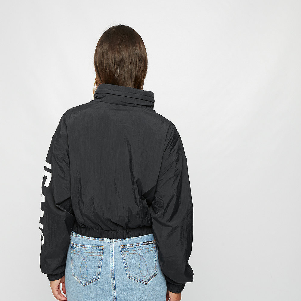 Calvin Klein Cropped Nylon Windbreaker black/bright white