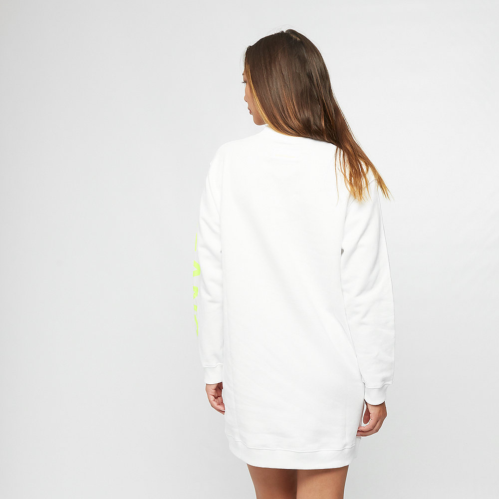 Calvin Klein Jeans Logo Knit Dress bright white/safety
