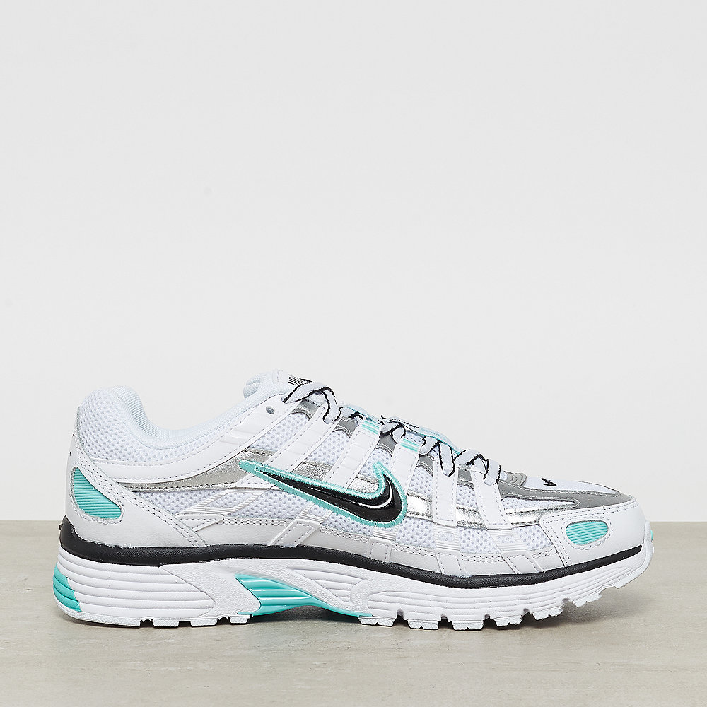 NIKE W NIKE P-6000 white/black-metallic silver-light aqua