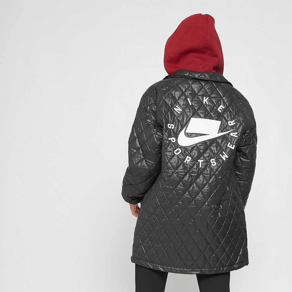 NIKE NSW Stepp-Jacke Quilted black/university red/white