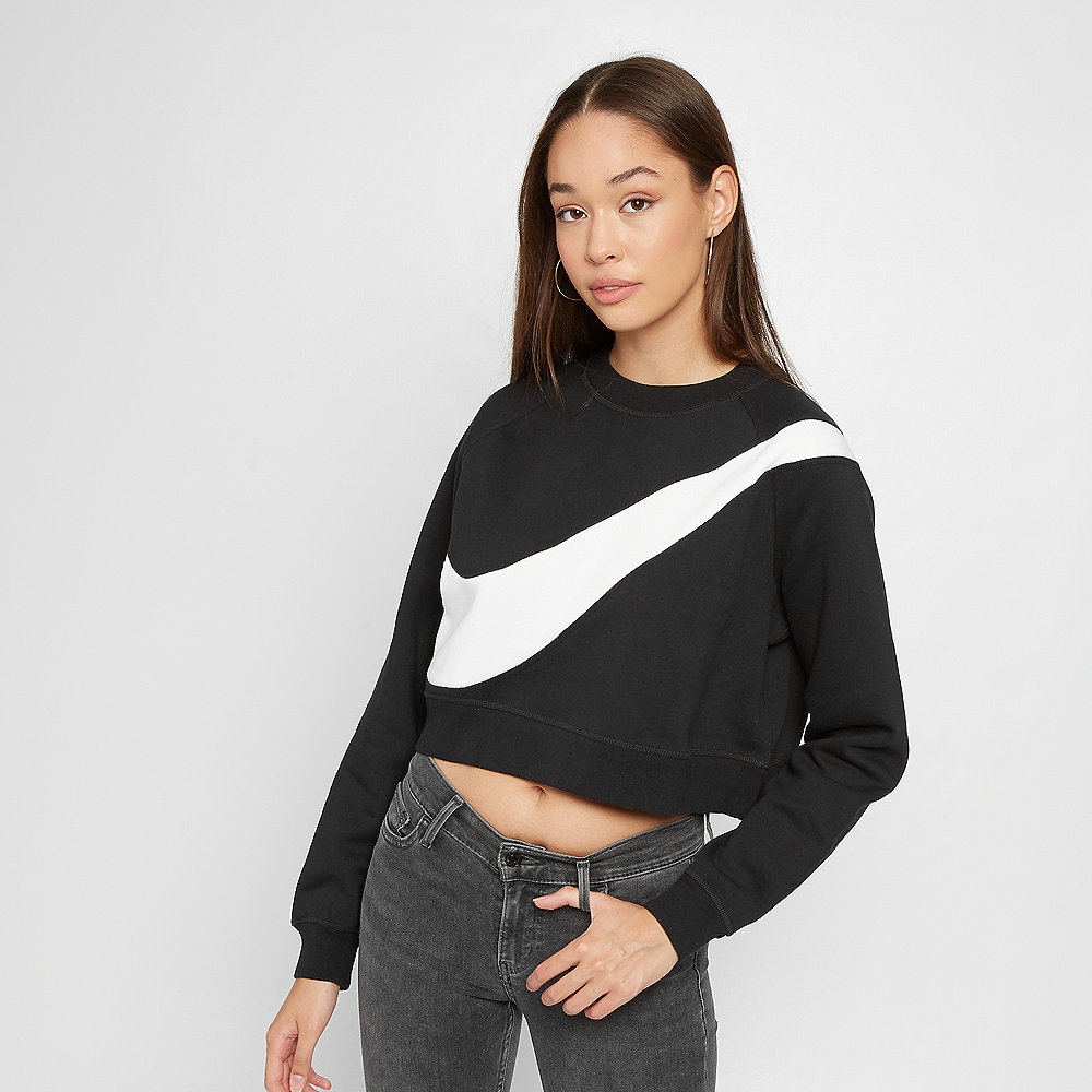 NIKE NSW Swoosh Crew FLC BB black/white