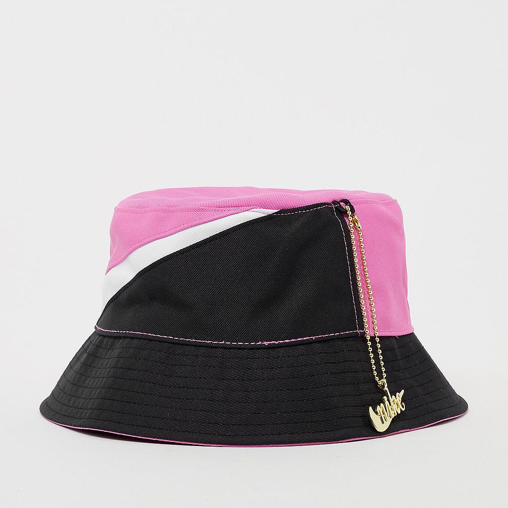 NIKE NSW Bucket Hat Swoosh china rose/white/black