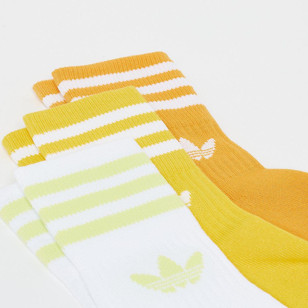 adidas Mid Cut Crew Socks active gold/yellow/white