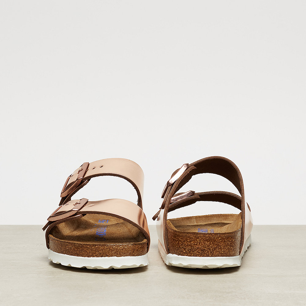 Birkenstock Arizona metallic copper/white