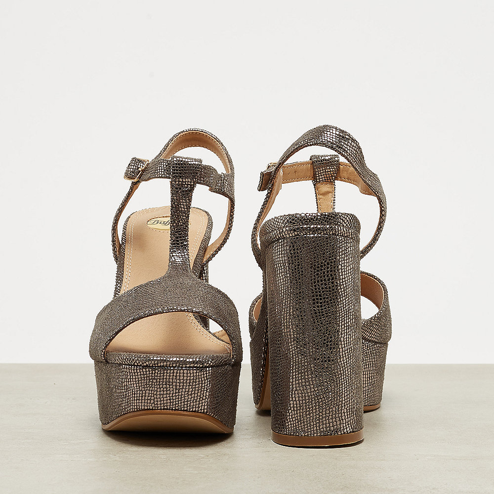 Buffalo Plateau Sandal T-Strap grey