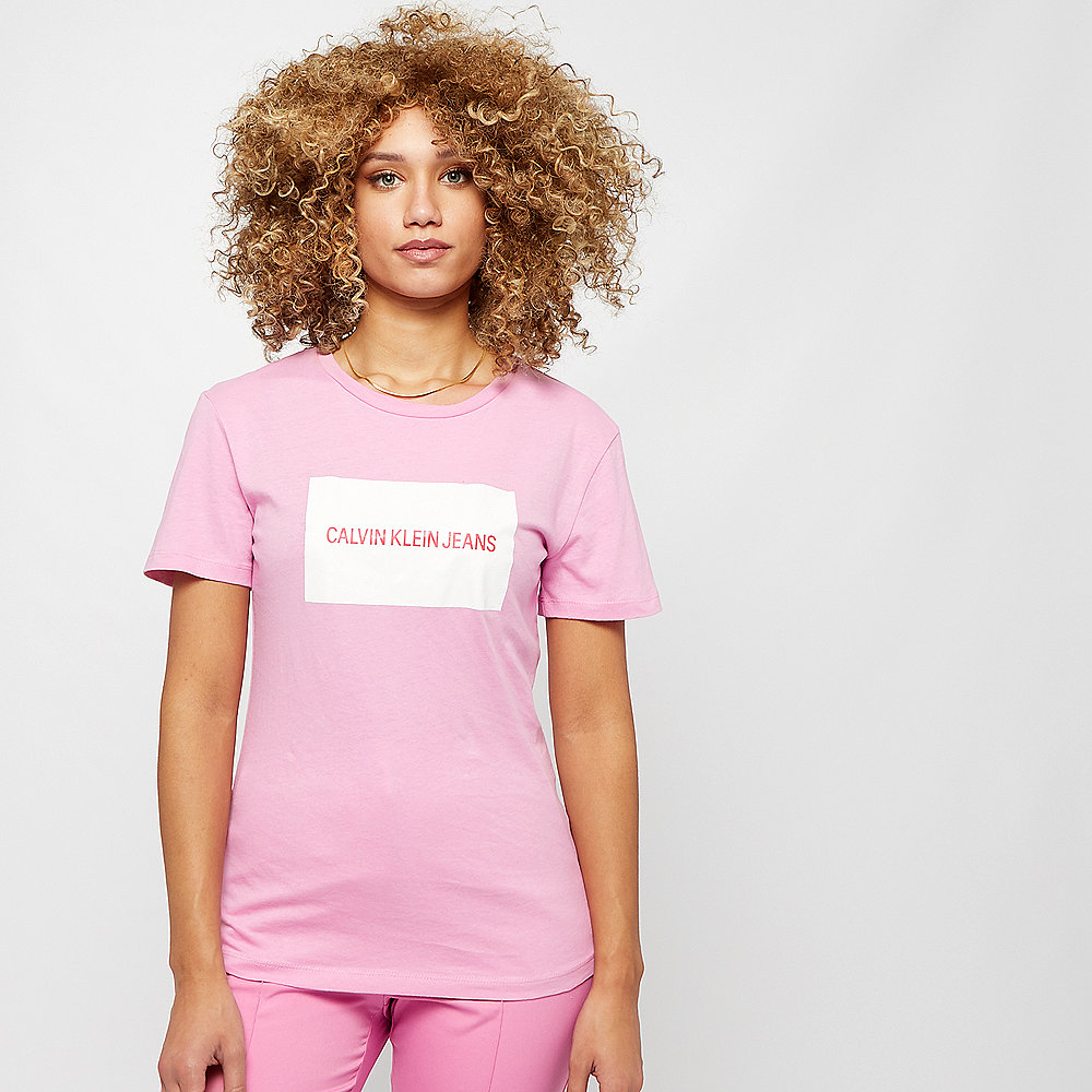 Calvin Klein Box Slim Fit T-Shirt begonia pink/bright white