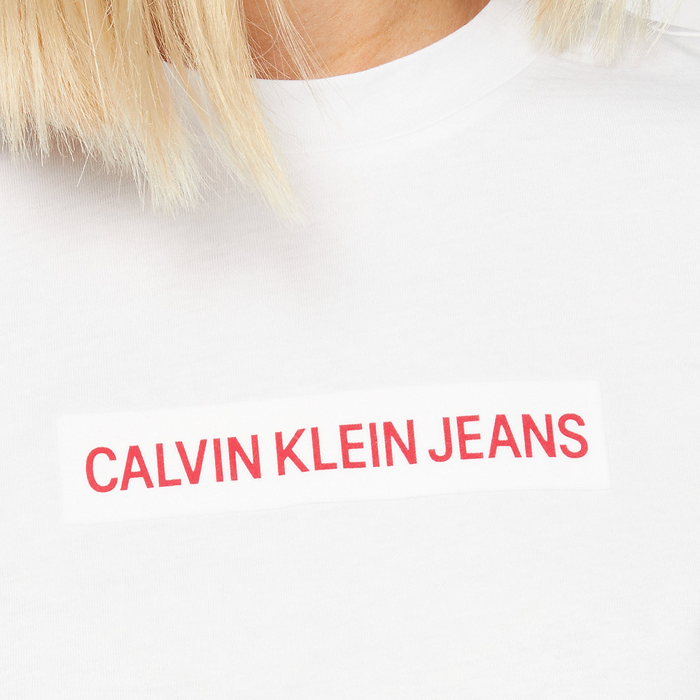 Calvin Klein Institutional Flock Box T-Shirt white