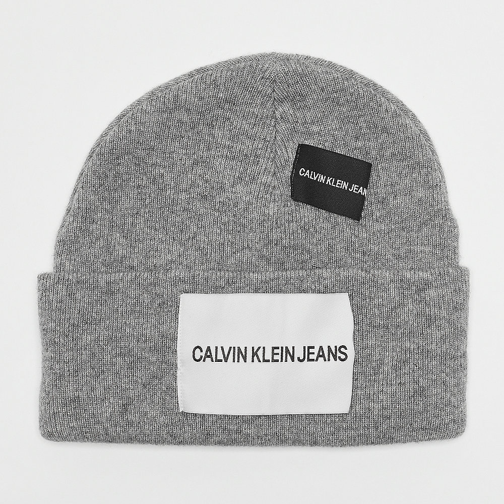 Calvin Klein Patches Beanie mid grey heather