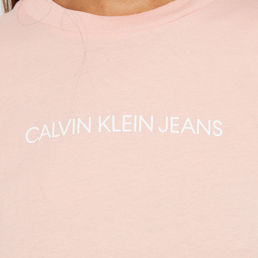 Calvin Klein Shrunken Instit Crop SS blossom/bright white