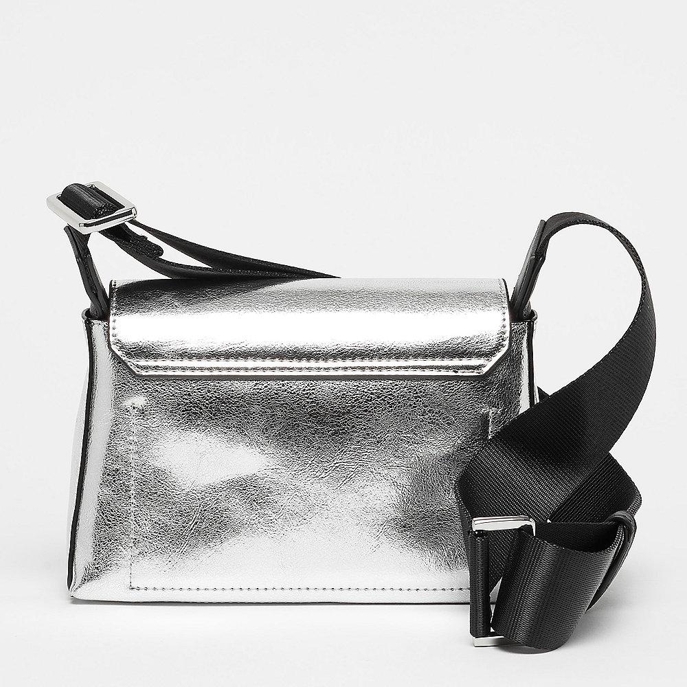 Calvin Klein Snap Flap Crossbody silver