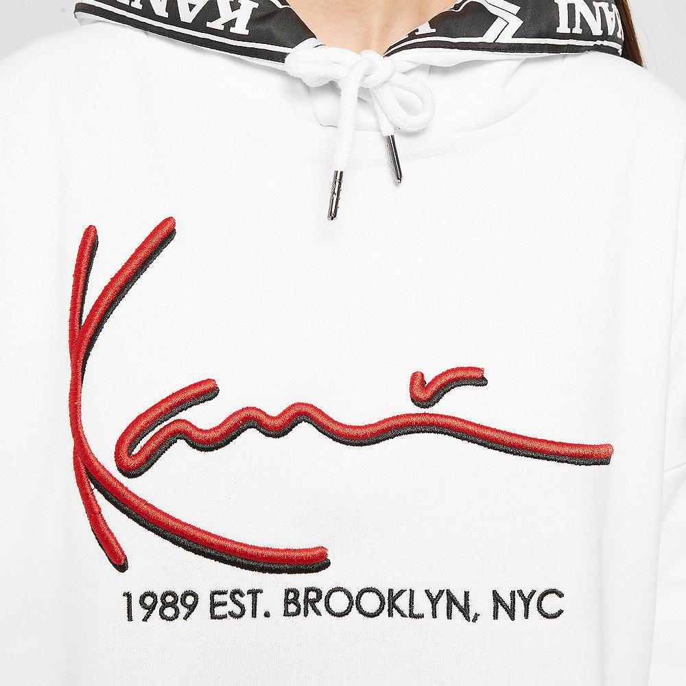 Karl Kani Signature Hoodie white/red