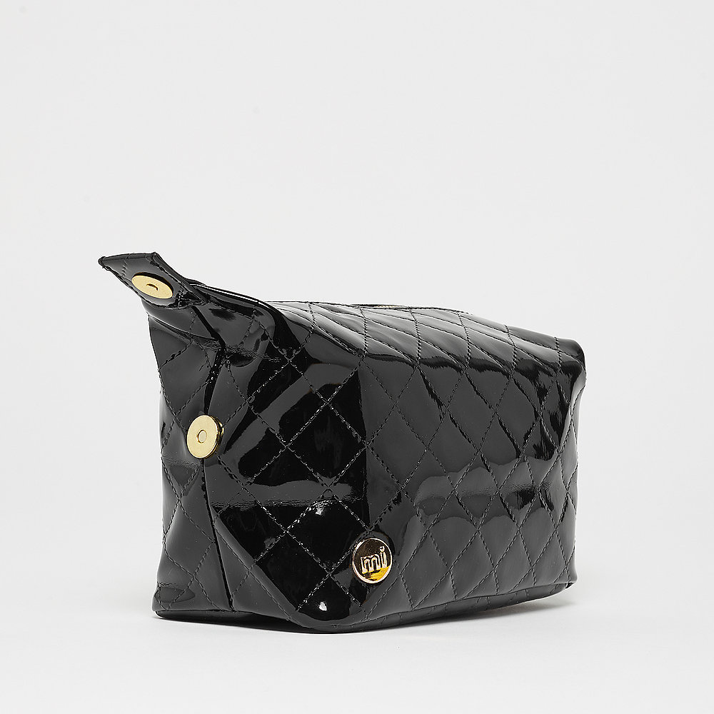 Mi-Pac Gold Wash Bag Patent Quilt black