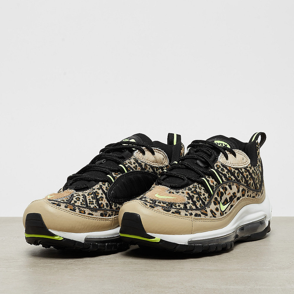 NIKE Air Max 98 Premium desert ore/volt glow-black-wheat
