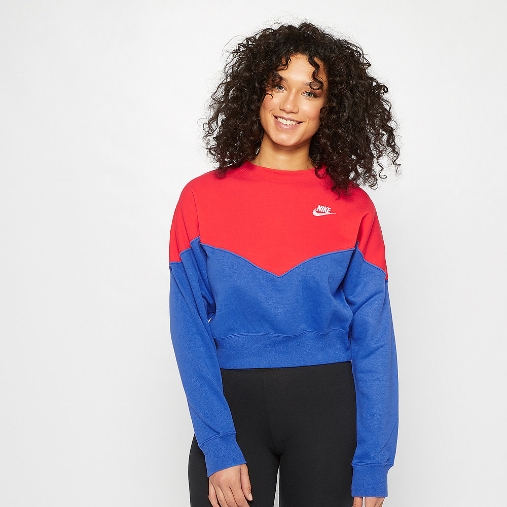 NIKE NSW Heritage Crew Sweater blue/red