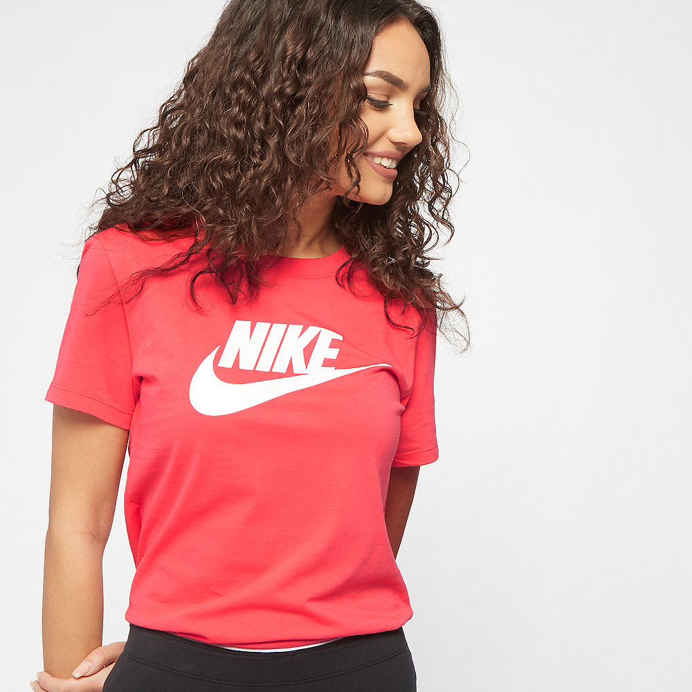 NIKE NSW Tee Essential Icon Futura ember glow/white