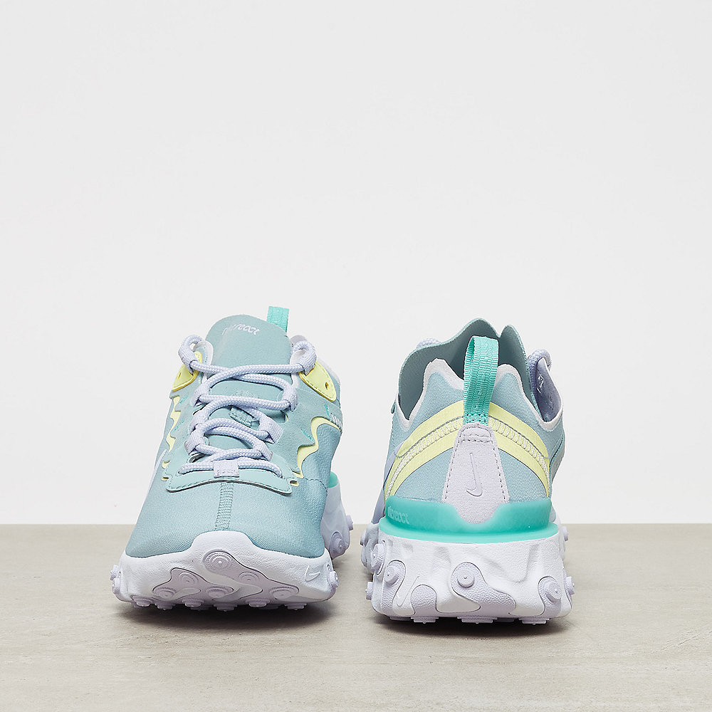 NIKE React Element 55 ocean cube/amethyst tint-luminous green