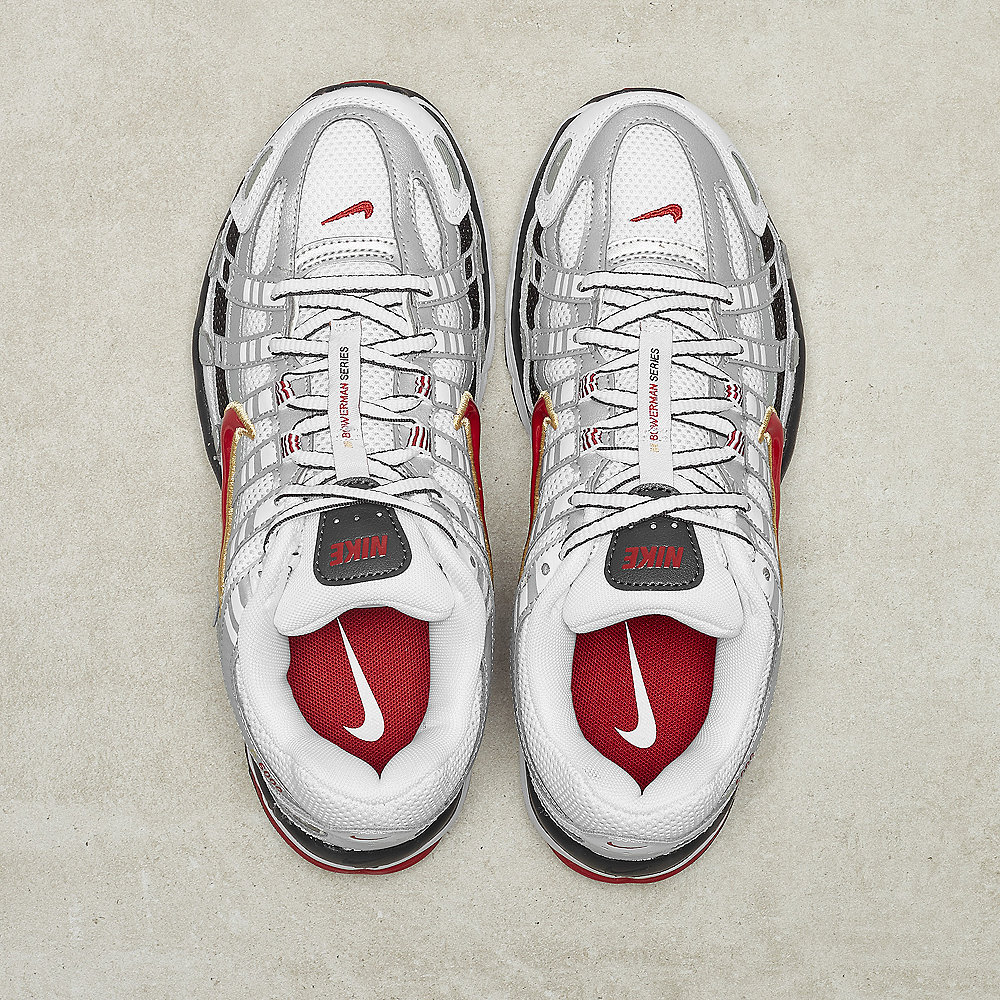 NIKE W NIKE P-6000 white/varisty red-mtlc platinum