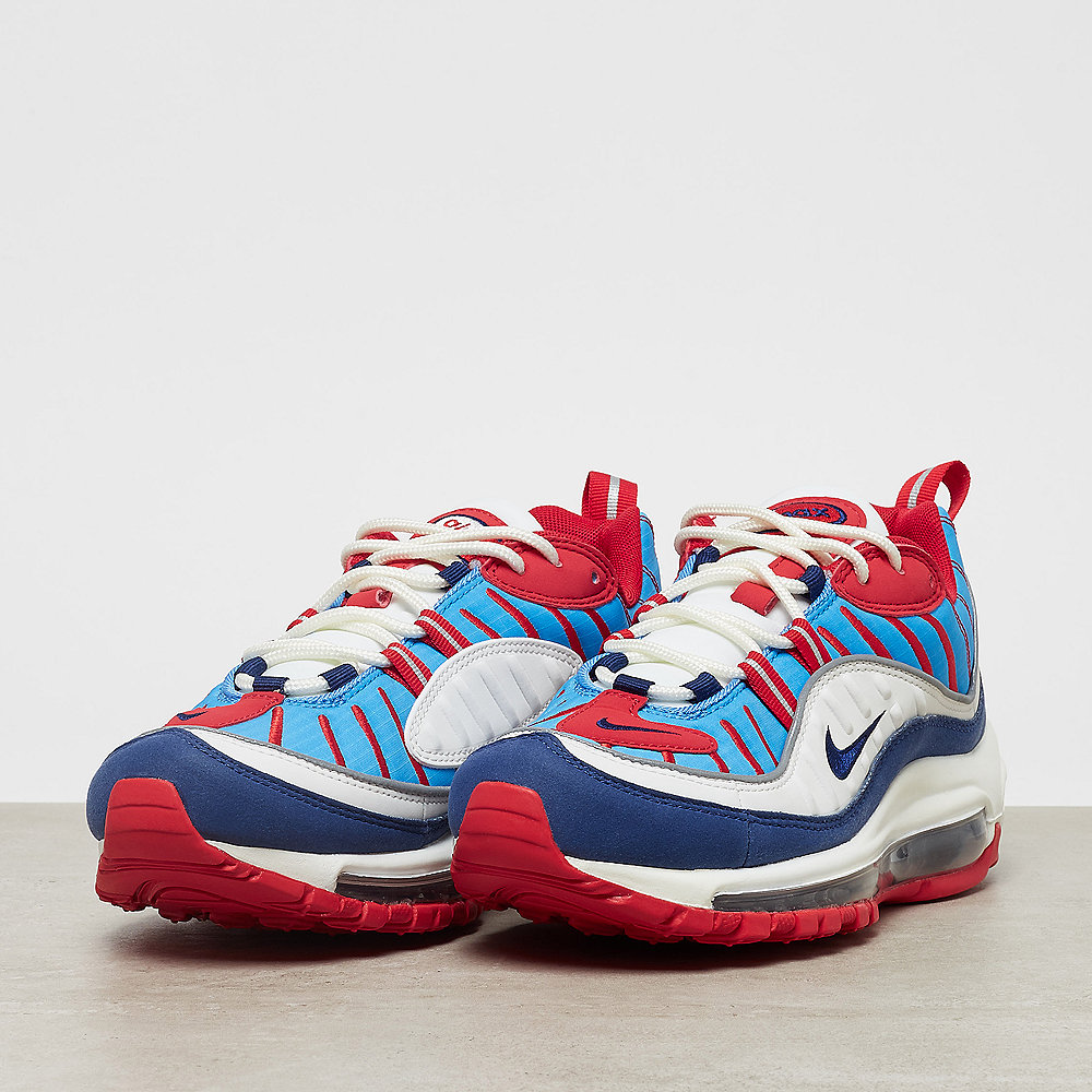 NIKE Wmns Air Max 98 summit white/blue void-university red