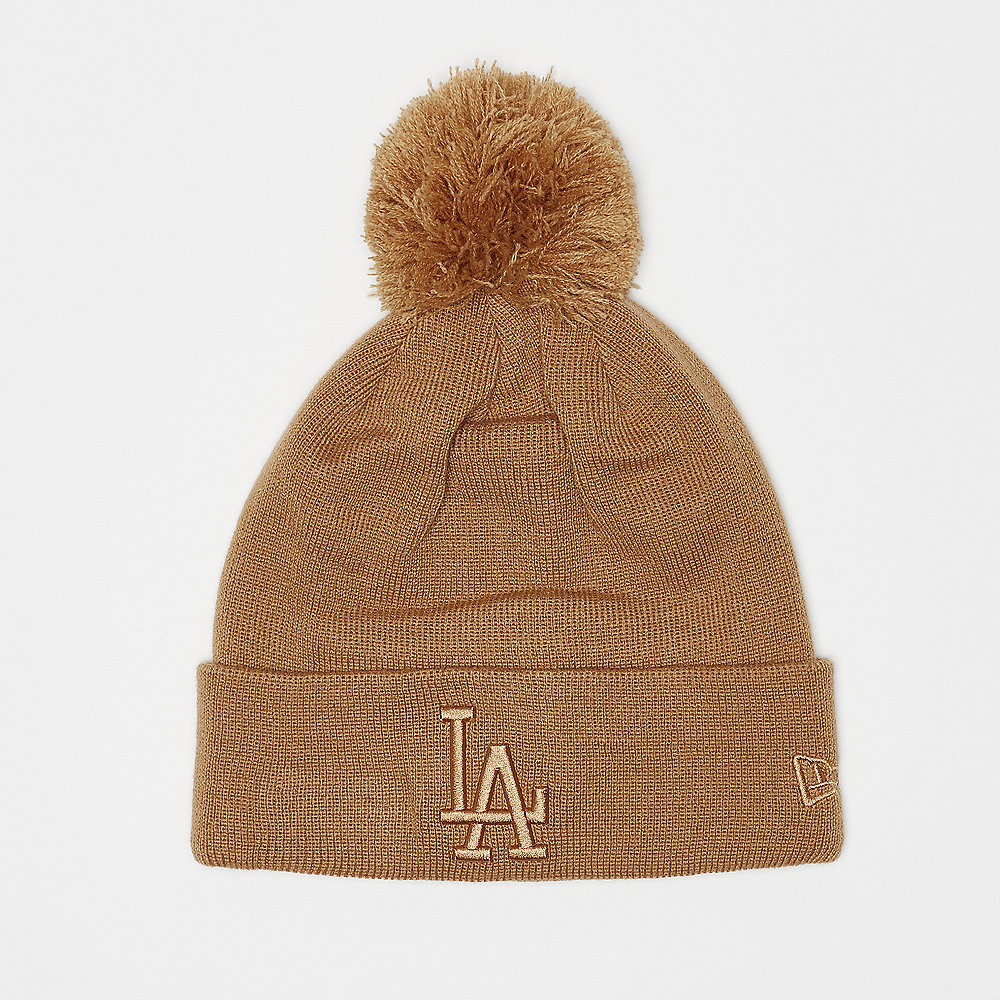 New Era Womens League Essential Bobble Cuff LA Dodgers wheat