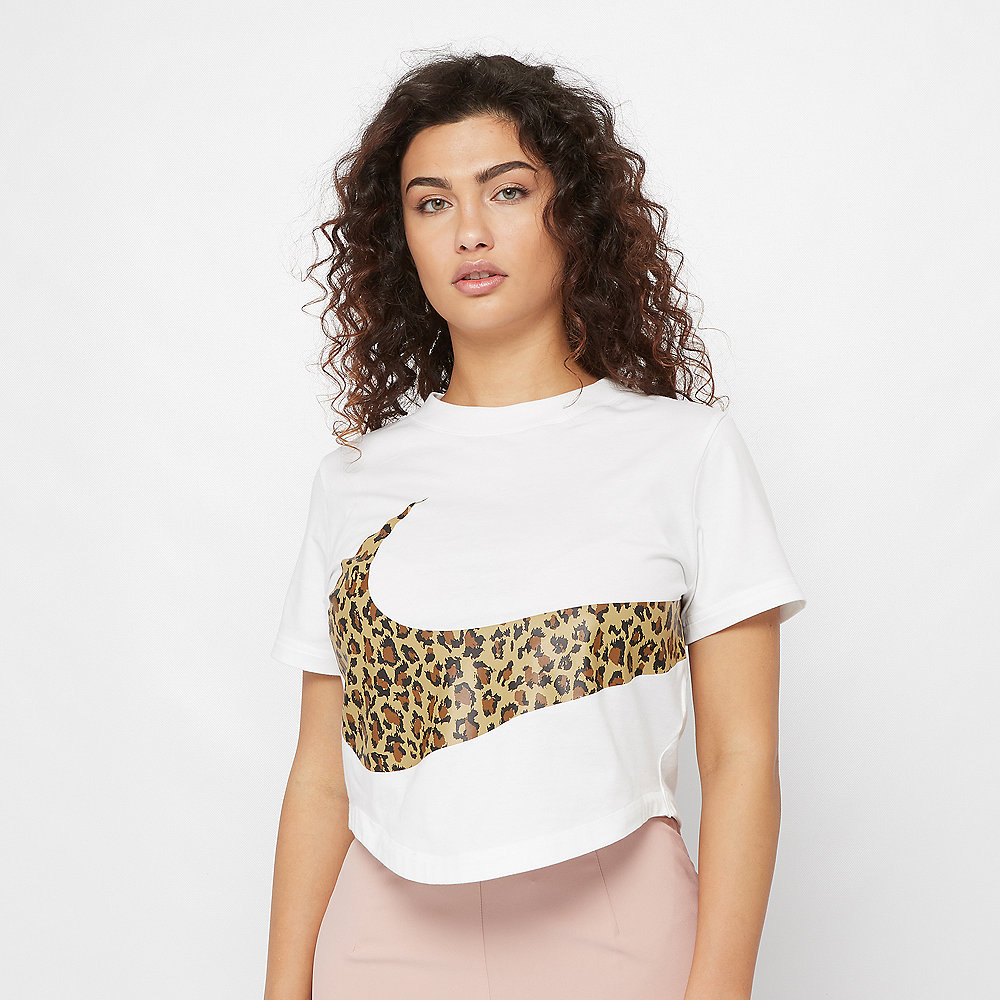 NIKE NSW T-Shirt Crop Animal white
