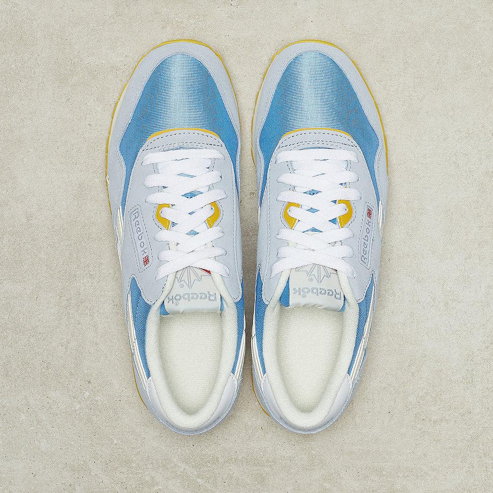 Reebok CL Nylon gable grey/sky blue/urban yellow/white