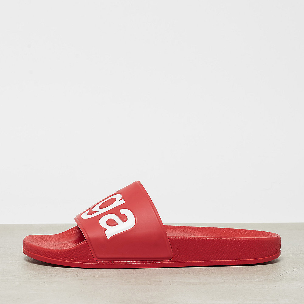 Superga Slides PVC red white