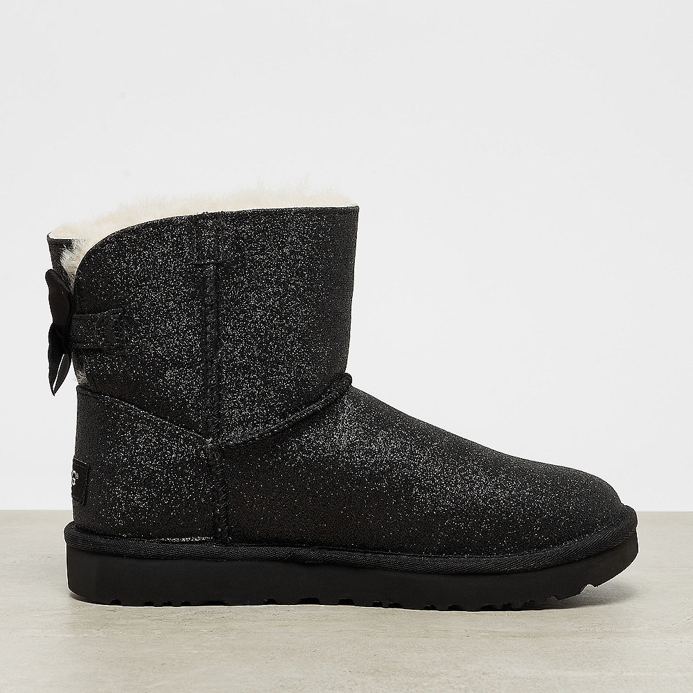 UGG Mini Bailey Bow Sparkle black