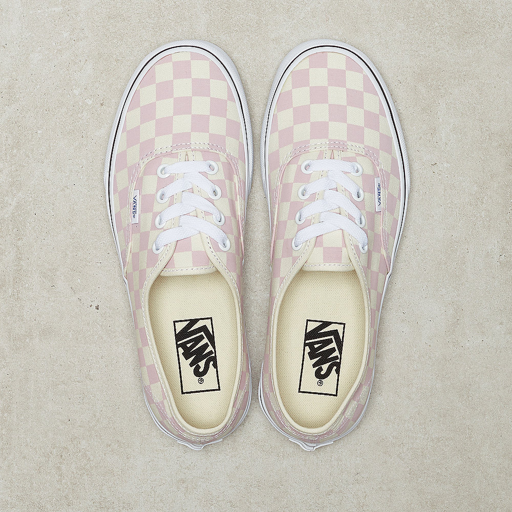 UA Authentic checkerboard chalk pink white