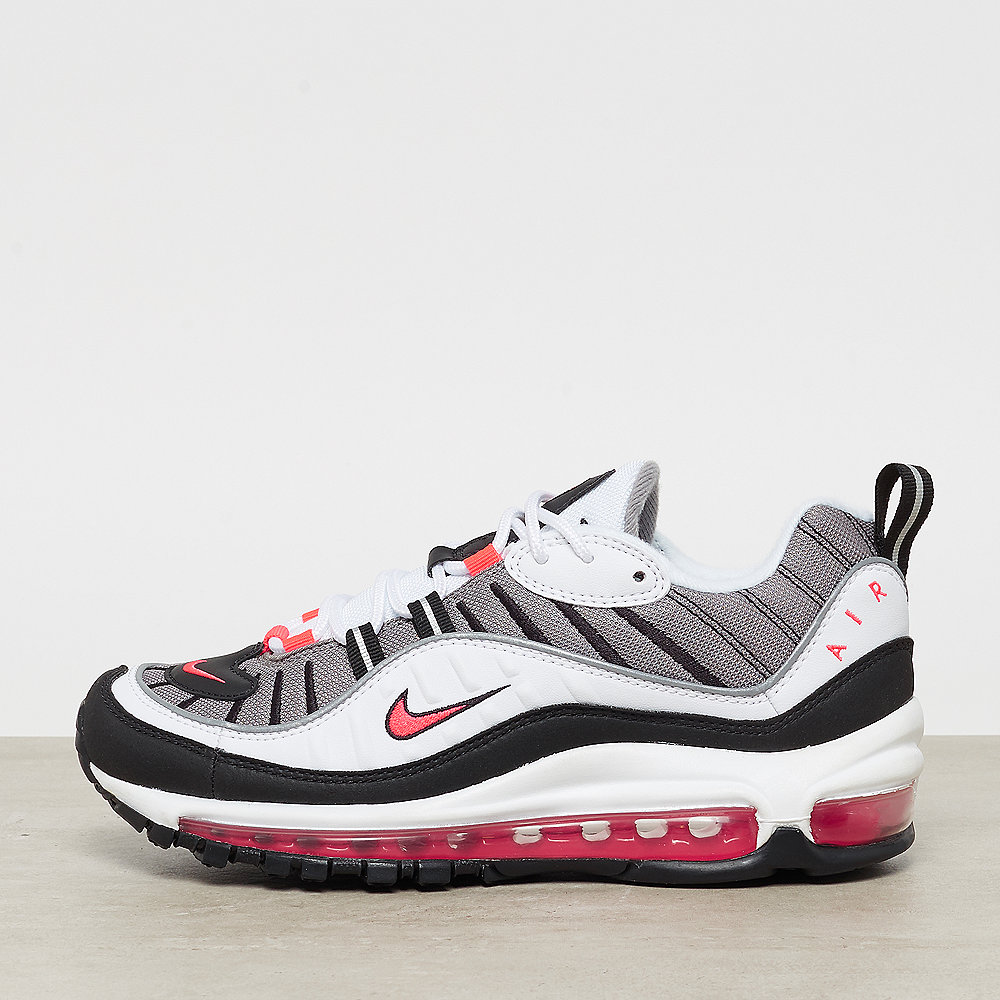 NIKE Wmns Air Max 98 white/solar red-dust-reflect silver