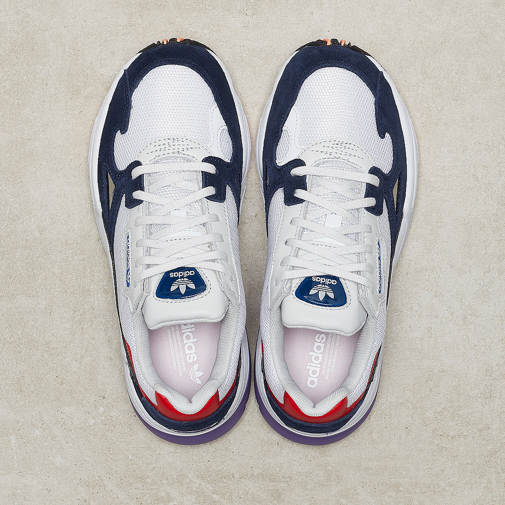 adidas Falcon W white/crystal white/crystal white/collegiate navy