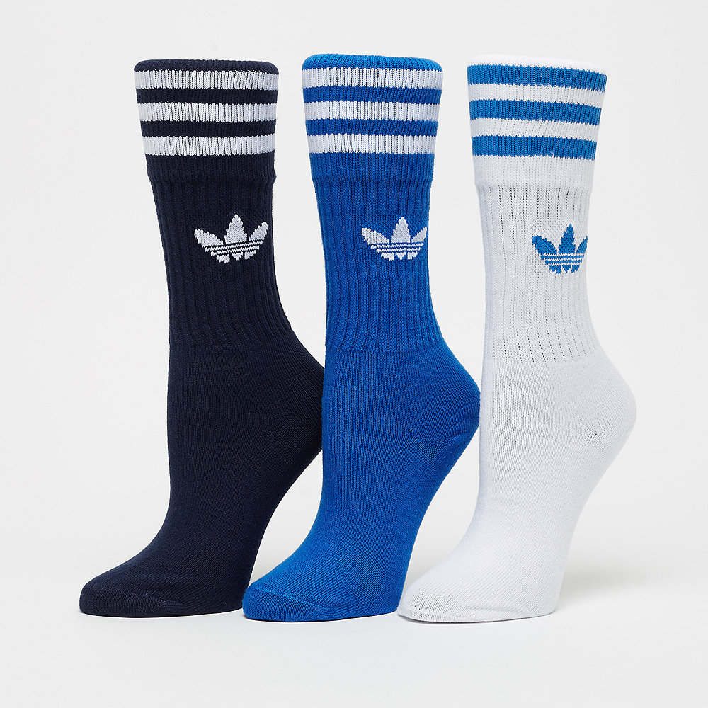 adidas Solid Crew Sock collegiate navy/bluebird/white