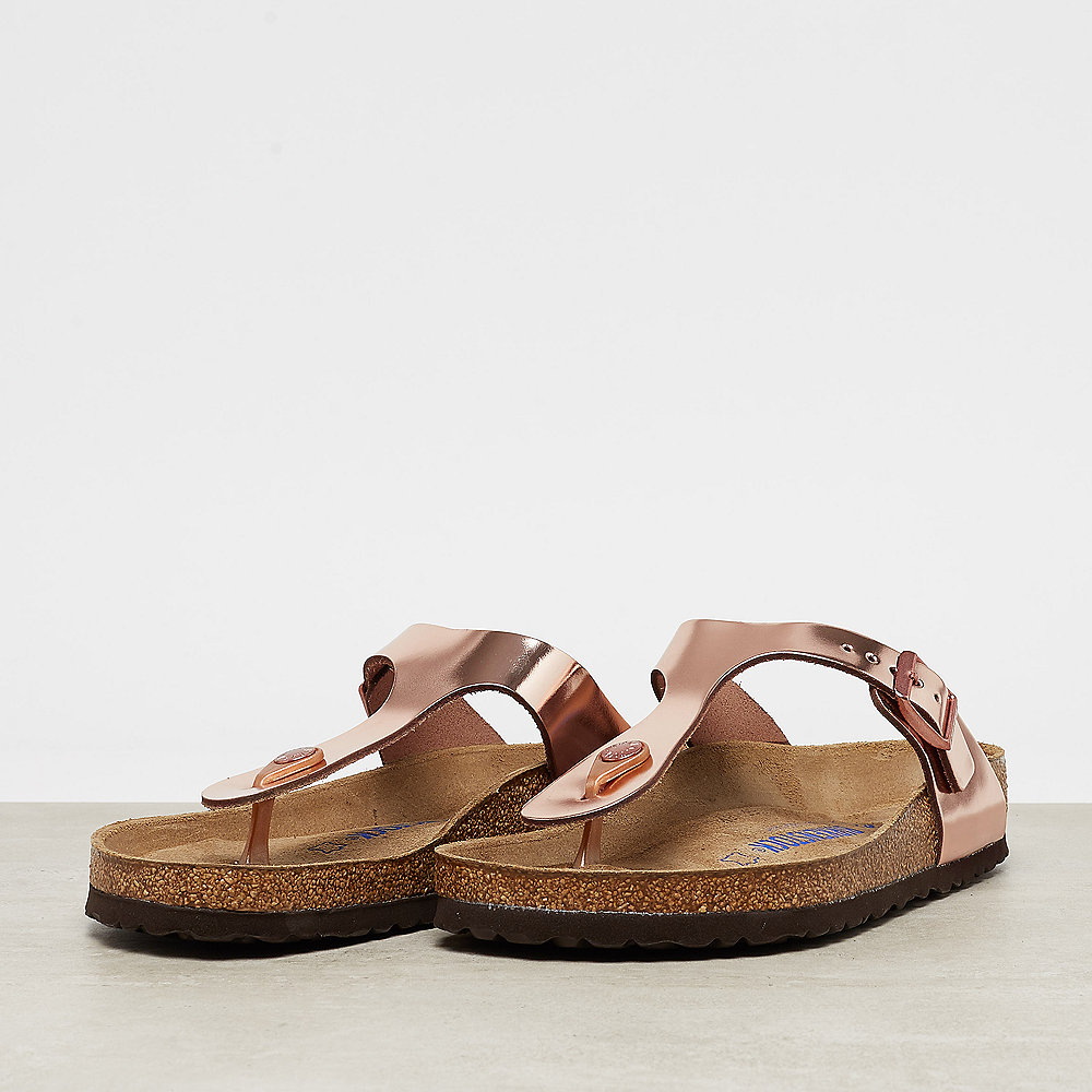 Birkenstock Gizeh metallic copper