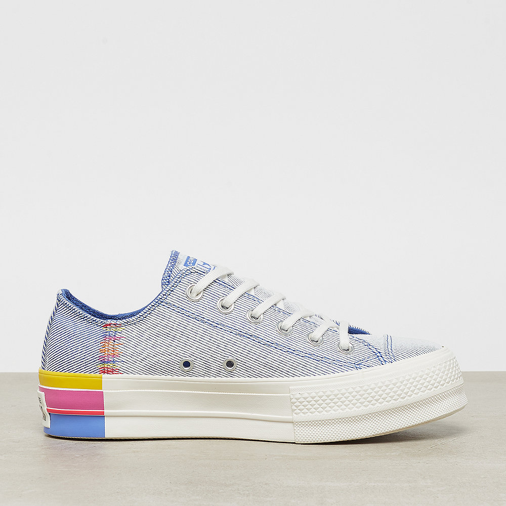 Converse Chuck Taylor All Star Lift Rainbow OX bozone blue/vintage wh