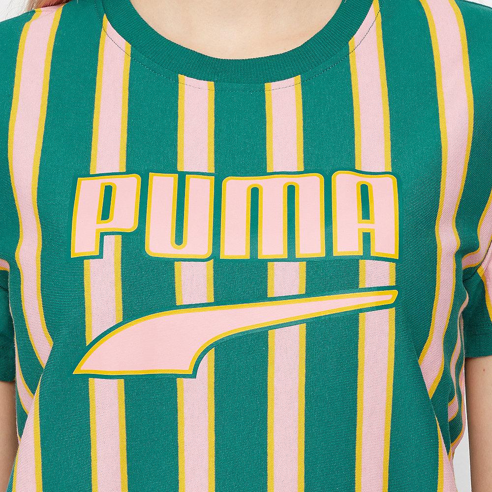 Puma Downtown Stripe Tee teal green