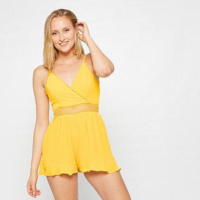 Effeny Jumpsuit Spitze gelb