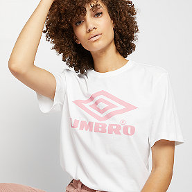 Umbro Boyfriend Fit Logo Tee white/blush