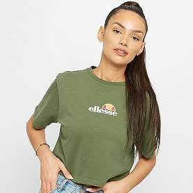Ellesse Fireball EMB Crop T-Shirt dark green