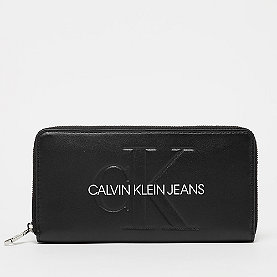 Calvin Klein Sculpted Large Ziparound black