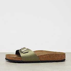 Birkenstock Madrid icy metallic stone gold