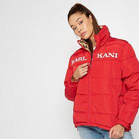 Karl Kani KK Retro Reversible Puffer Jacket red/camel/brown