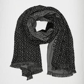 Calvin Klein Industrial Mono Jaquard Scarf W black