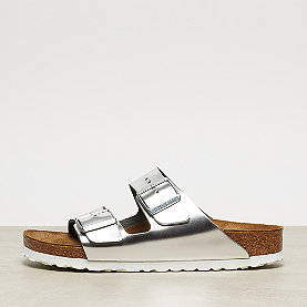 Birkenstock Arizona metallic silver/white