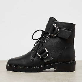 Bronx Kingdom Buckled Combat Boot black