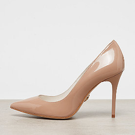 Buffalo Mid Heel Pointed Pumps Patent nude
