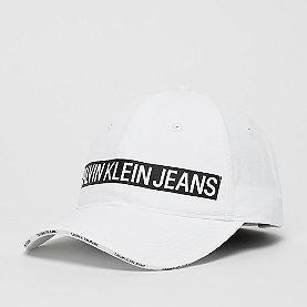 Calvin Klein J Logo Tape Cap white