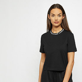 Calvin Klein Neck Logo Modern Straight Crop Tee black