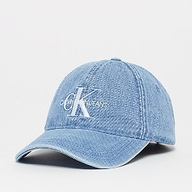 Calvin Klein Monogram Denim Cap light wash denim