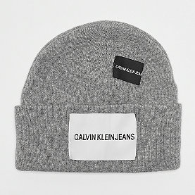 Calvin Klein Patches Beanie mid grey heather