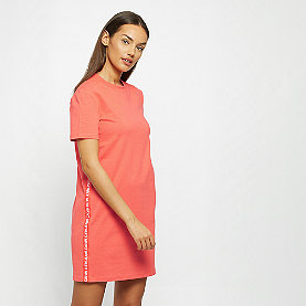 Calvin Klein Tape Logo Shirt Dress coral